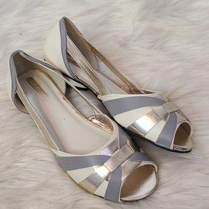 Mark. Metallic Gold & silver sandals size 8